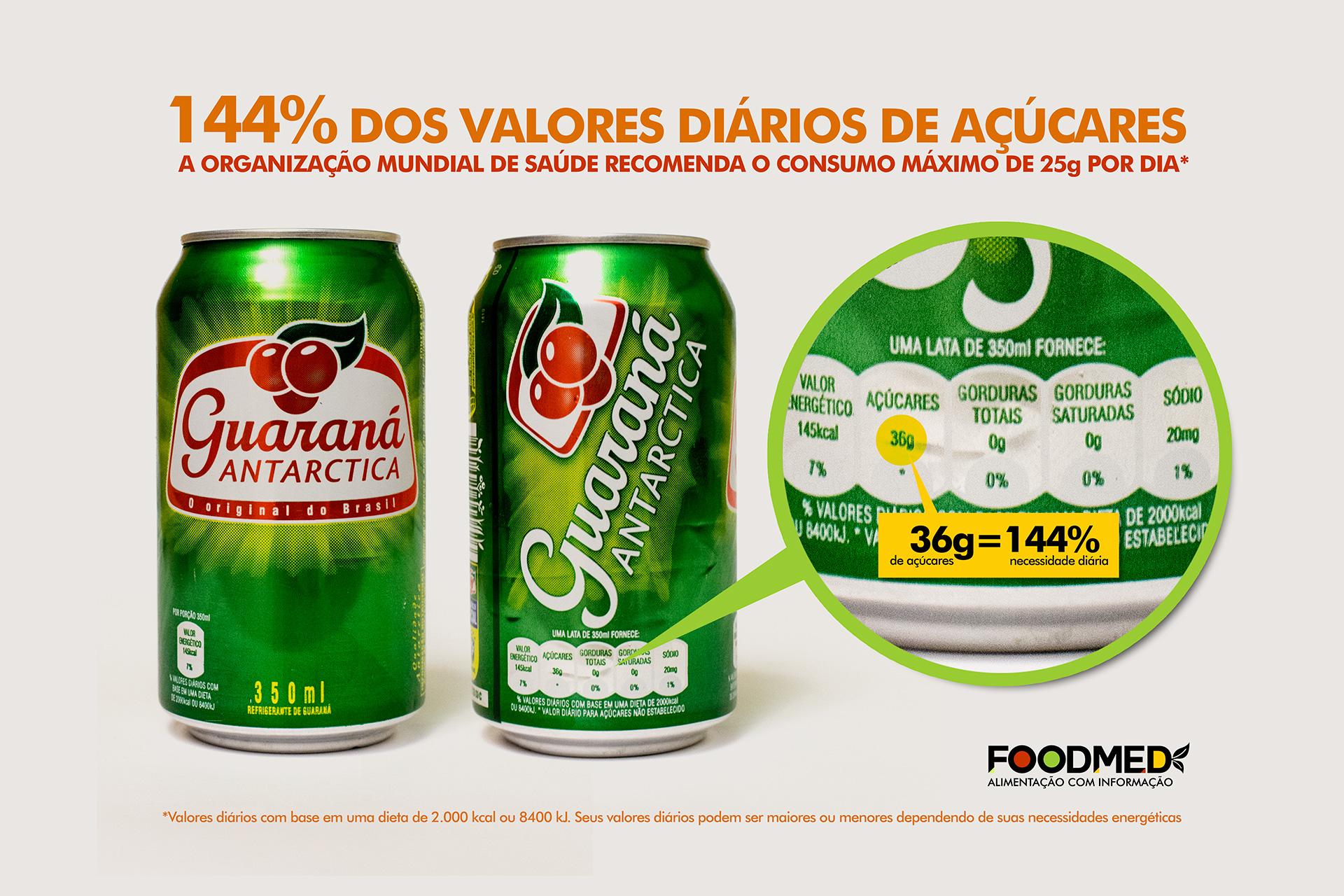 Quantidade de Açúcar no Guaraná Antarctica