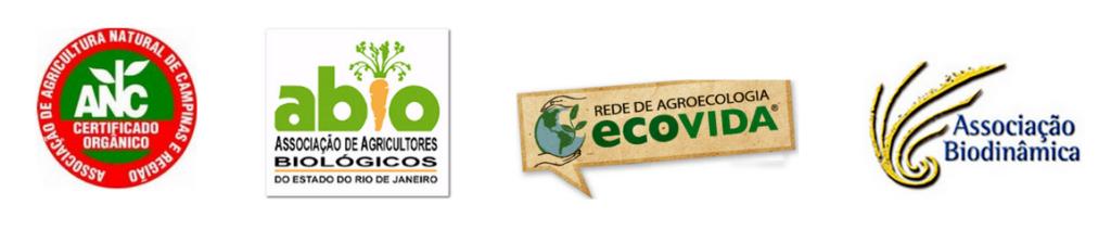 Selos de empresas do Sistema Participativo de Orgânicos